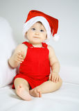 Christmas baby girl Royalty Free Stock Image