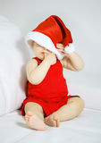 Christmas baby girl Stock Image