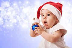 Christmas baby girl portrait Royalty Free Stock Image