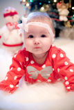 Christmas baby girl Royalty Free Stock Images
