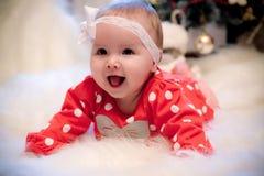 Christmas baby girl Stock Photo