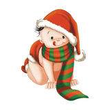 Christmas baby. Illustration christmas baby suitable for postcards, tshorts, magazines, books Royalty Free Stock Image