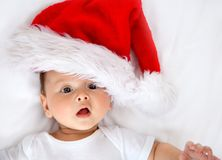 Christmas baby isolated Stock Image