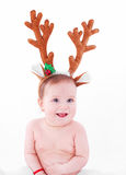 Christmas baby joy Stock Image