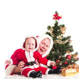 Christmas baby and mom Royalty Free Stock Photo