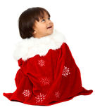 Christmas baby portrait Royalty Free Stock Photos