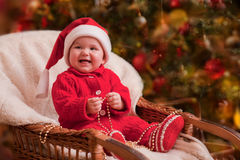 Christmas baby portrait Stock Images