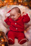 Christmas baby portrait Royalty Free Stock Photo