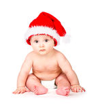 Christmas baby in Santa Claus hat Royalty Free Stock Photo