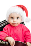 Christmas baby in the suitcase Stock Photography