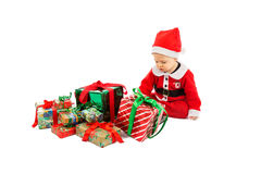 Christmas and baby Stock Images