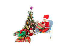 Christmas and baby Royalty Free Stock Photos