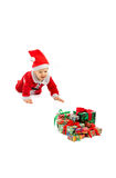 Christmas and baby Royalty Free Stock Photo
