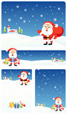 Christmas bacground set | Santa Royalty Free Stock Photography