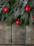 Christmas backdrop with spruce Stock Photos