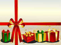 Christmas Backgraound with presents Royalty Free Stock Images