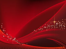 Christmas Background 03. Red background with luminous stars vector illustration