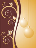 Christmas background. Vector illustration of a brown and beige christmas background Royalty Free Stock Photo