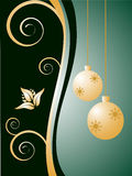 Christmas background. Vector illustration of a brown and beige christmas background Stock Photos