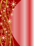Christmas background. Vector illustration of an abstract golden and red christmas background Stock Images