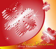 Christmas background. Abstract Christmas background with snowflakes Stock Photos