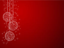 Christmas background. Elegant red christmas background. Vector illustration Royalty Free Stock Photo