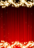 Christmas background. Christmas fire on a red background Royalty Free Stock Photo