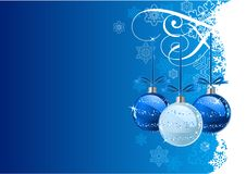 Christmas Background. Vector Christmas Background with balls and snowflakes Royalty Free Stock Photos