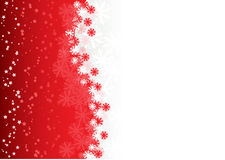 Christmas background. Red christmas background with stars and snowflakes Stock Image