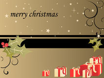 Christmas background. Vector illustration of christmasy elements Stock Images
