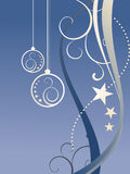 Christmas background. Vector illustration of christmasy elements Stock Photo