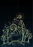 Christmas background. Religion style christmas background with shiny snowflakes royalty free illustration