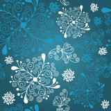 Christmas  background. Christmas pattern,  blue seamless background Stock Image