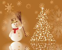 Christmas background. Beautiful vector Christmas (New Year) background for design use Stock Image