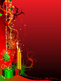 Christmas background. Background with decoration for your design stock illustration