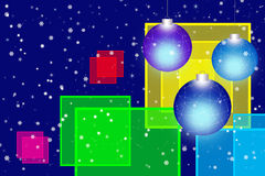 Christmas  background. Christmas  background with toys and snowflakes Royalty Free Stock Images