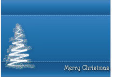 Christmas background. Blue Christmas background with decorate tree and a merry christmas headline.EPS file available Royalty Free Stock Photography