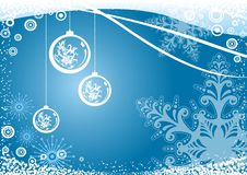 Christmas background. Blue christmas background with snowflakes Stock Photography