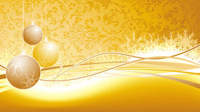 Christmas background. Golden design christmas background for your text Royalty Free Stock Images