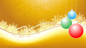 Christmas background. With ornament spheres Royalty Free Stock Photo