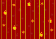 Christmas background. With christmas decoration and snowflakes Stock Images