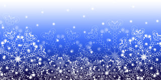 Christmas background. Winter background with decorative snowflakes Royalty Free Stock Image
