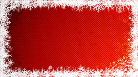 Christmas background. Snowy frame for your text Stock Photo