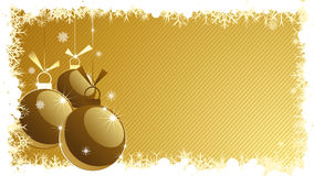 Christmas background. With ornament balls Stock Photography