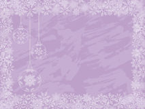 Christmas background. With a holiday baubles. Vector Royalty Free Stock Photography
