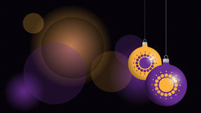 Christmas background. Image with ornament balls Stock Photography
