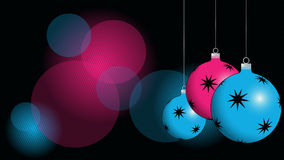 Christmas background. Balls with ornament Stock Images