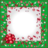 Christmas background. In green and red Stock Photos
