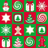 Christmas background. In green and red Stock Photography