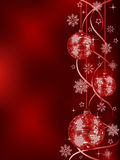 Christmas background. With a holiday baubles. Vector illustration Stock Photography